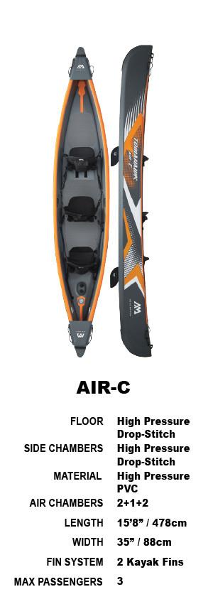 Aqua Marina Tomahawk Air-C 478 High Pressure Drop-Stitch Premium Inflatable Kayak