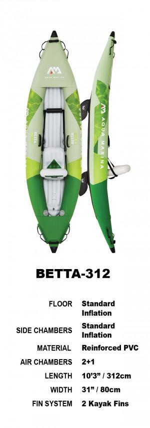 Aqua Marina BETTA 312 Inflatable Kayak Package 2022