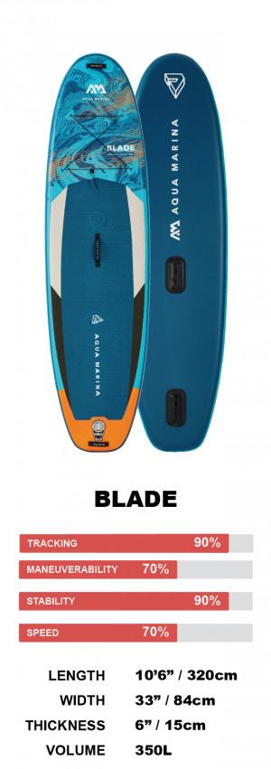 "Aqua Marina Blade 10'6"" WindSUP Inflatable Stand Up Paddle Board 2022"