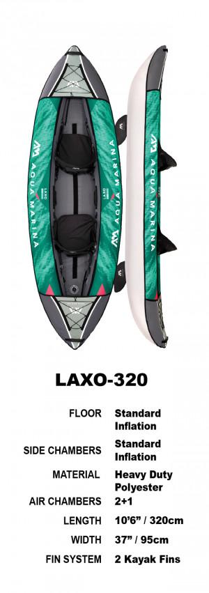 Aqua Marina Laxo 320 Inflatable Kayak Package 2022