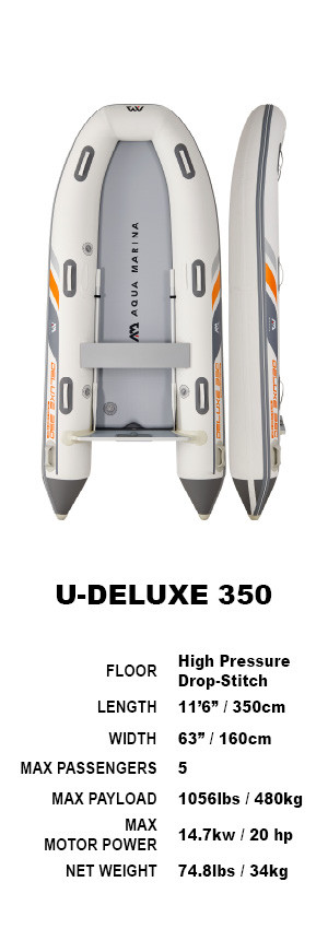 Aqua Marina Deluxe U-Type Yacht Tender 3.5m 2021